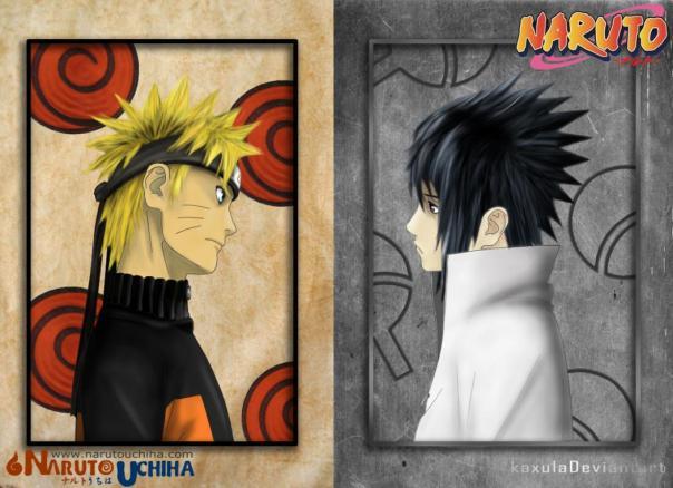 Naruto & Sasuke (NarutoUchiha Art)